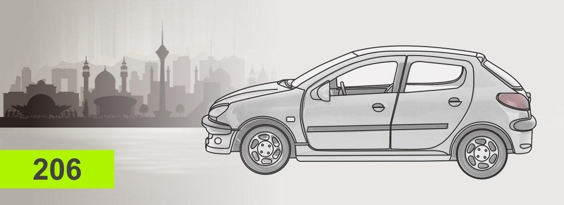 لوازم یدکی خودرو 206